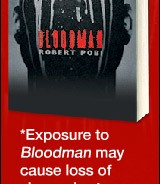 """Bloodman"" Novel Ad is Simple, Stark and Reasonably Effective"