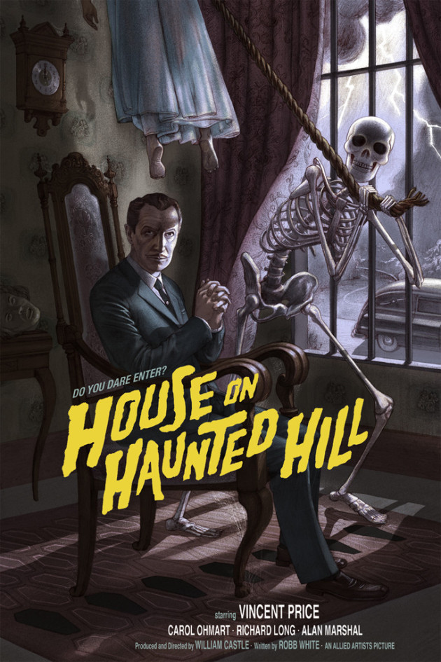 House on Haunted Hill color poster Jonathan Burton